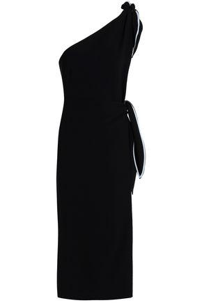 DIANE VON FURSTENBERG One-shoulder knotted crepe midi dress