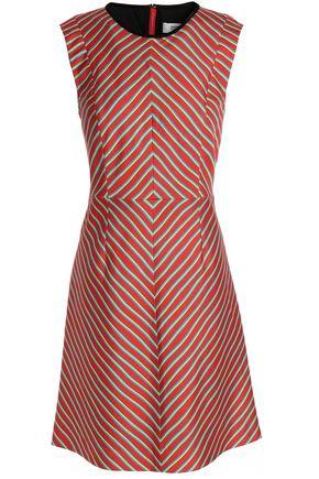 DIANE VON FURSTENBERG Striped wool and silk-blend canvas dress