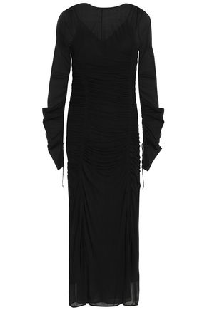 DIANE VON FURSTENBERG Layered silk-jersey midi dress