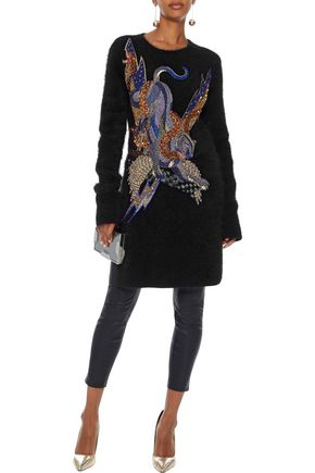 BALMAIN Embellished angora-blend sweater
