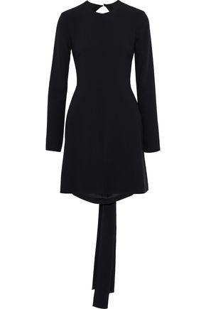 SAINT LAURENT Open-back crepe mini dress