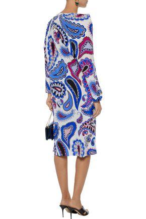 EMILIO PUCCI Layered printed silk dress