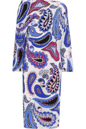EMILIO PUCCI Layered printed silk dress