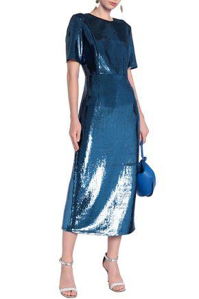 DIANE VON FURSTENBERG Sequined tulle midi dress