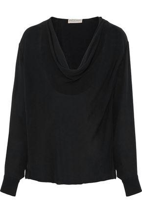 EMILIO PUCCI Draped silk crepe de chine blouse