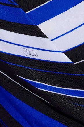 EMILIO PUCCI Wrap-effect printed jersey mini dress