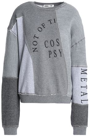 McQ Alexander McQueen Patchwork embroidered cotton and modal-blend sweatshirt