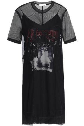 McQ Alexander McQueen Layered embroidered tulle mini dress