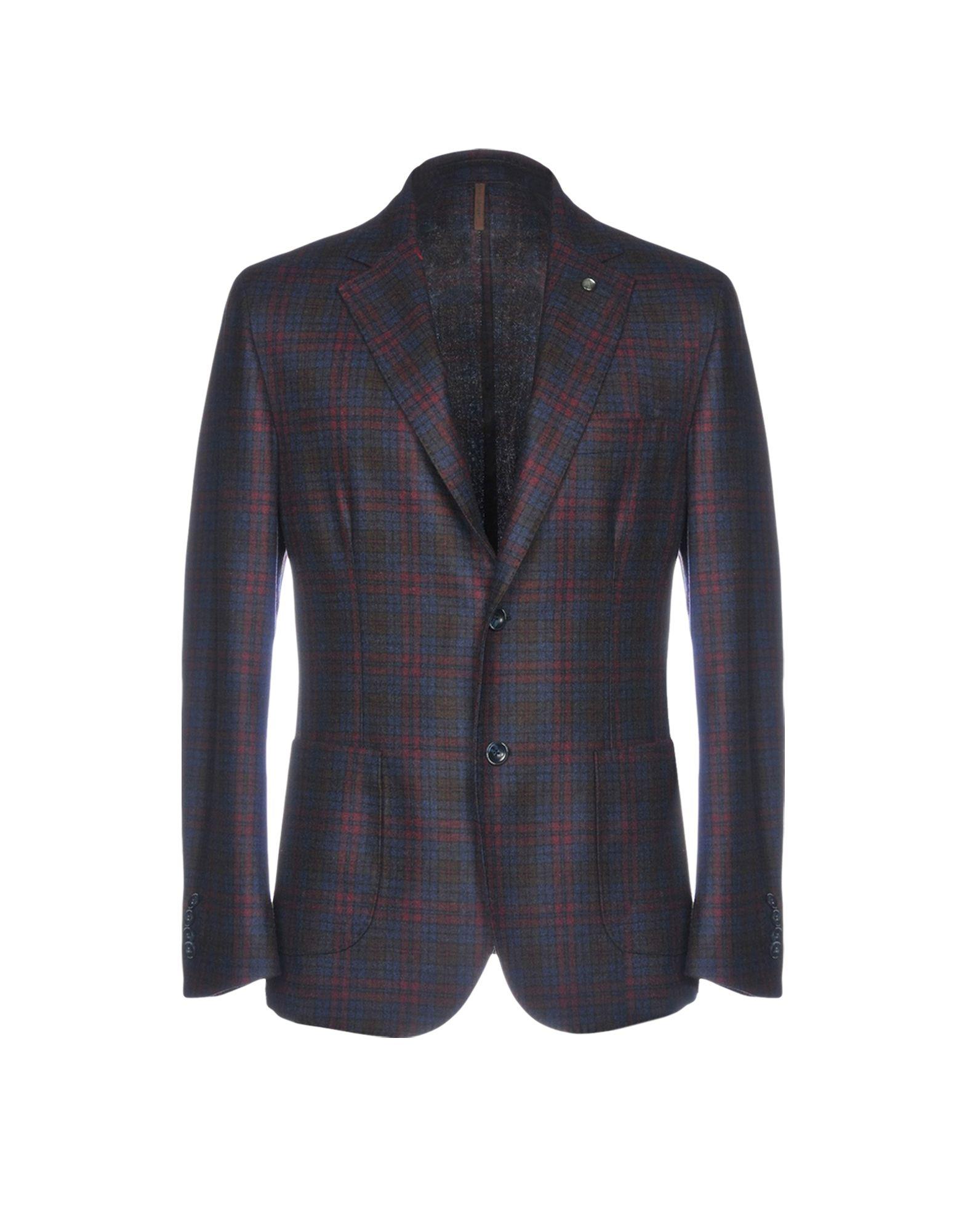 《期間限定セール中》LABORATORI ITALIANI メンズ テーラードジャケット ボルドー 50 80% バージンウール 20% ナイロン