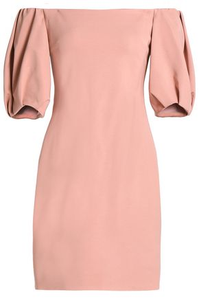 CUSHNIE ET OCHS Silvia off-the-shoulder cady mini dress
