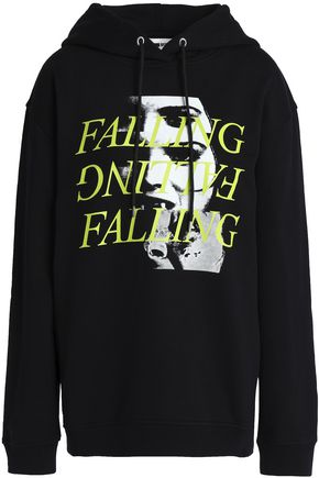 McQ Alexander McQueen Printed cotton hooded sweatshirt