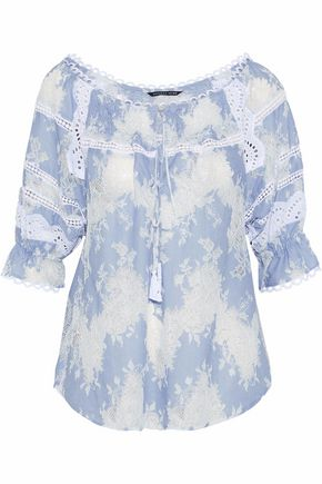 MARISSA WEBB Amalia cotton-blend lace blouse