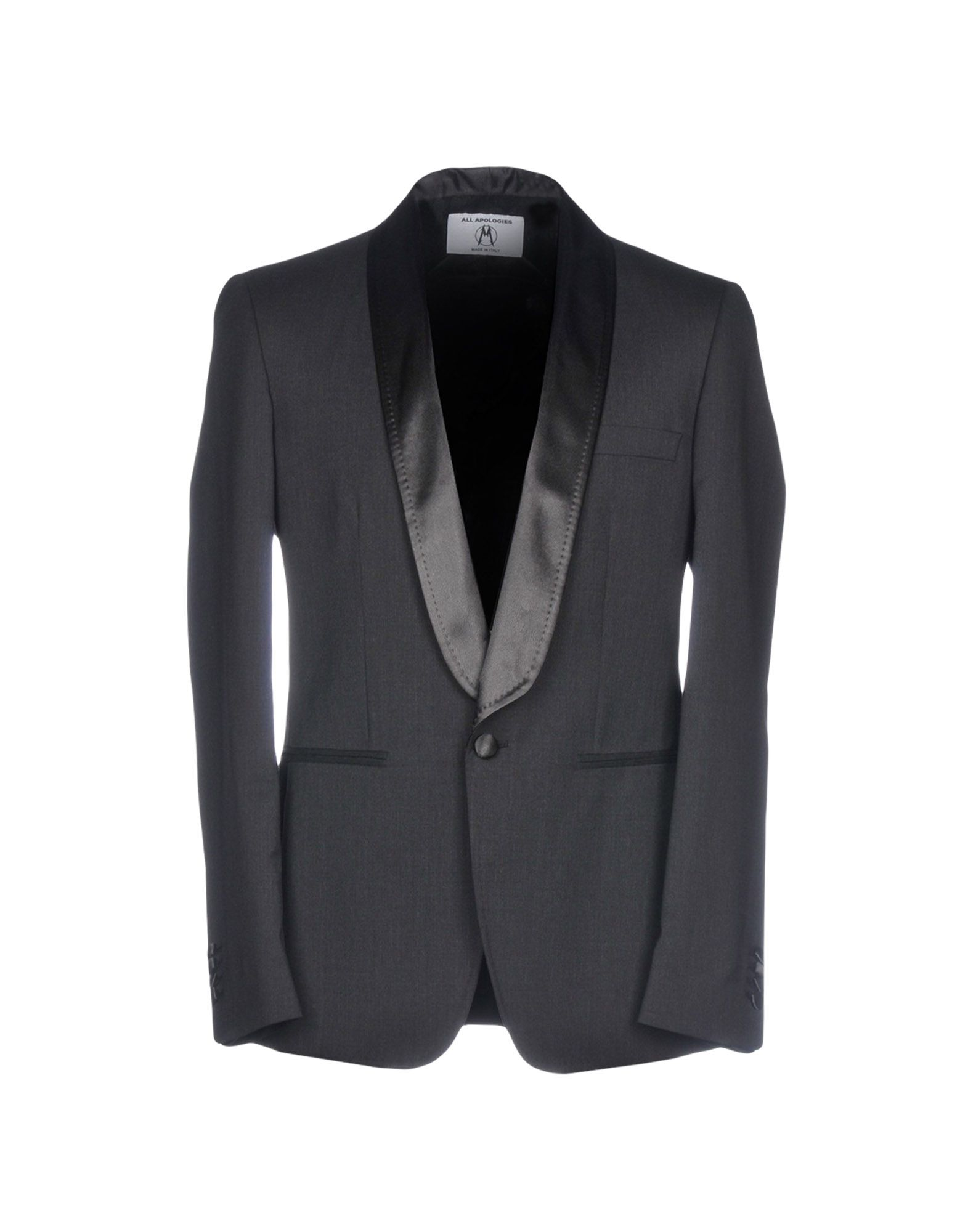 ALL APOLOGIES Blazer in Steel Grey