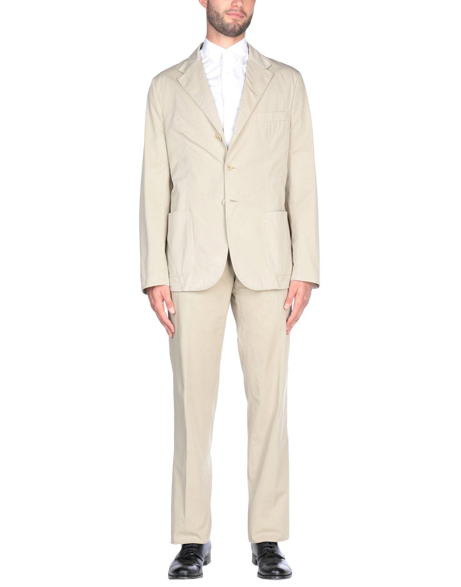 《送料無料》ASPESI メンズ スーツ ベージュ 56 コットン 100%