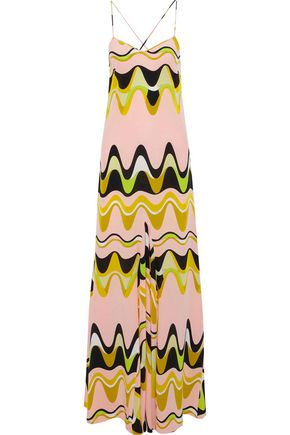 EMILIO PUCCI Printed silk crepe de chine maxi dress