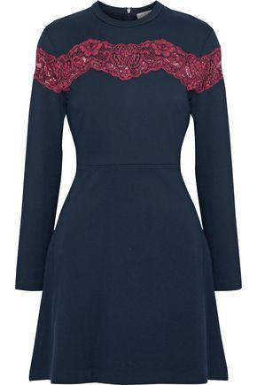 SANDRO Jaisy corded lace-paneled stretch-knit dress