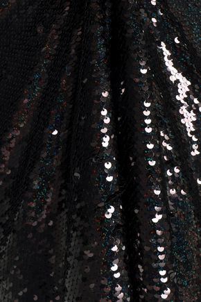 McQ Alexander McQueen Sequined tulle midi dress