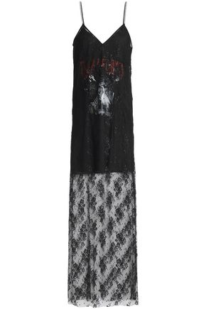 McQ Alexander McQueen Crystal-embellished lace gown