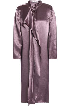 ACNE STUDIOS Draped hammered-satin dress