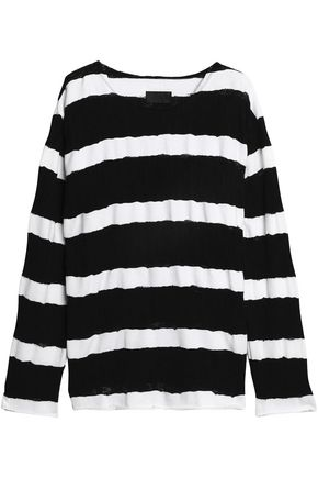 RTA Distressed striped cotton sweater