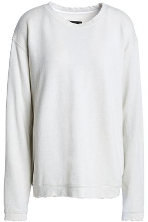 RTA Beale French cotton-blend terry sweatshirt
