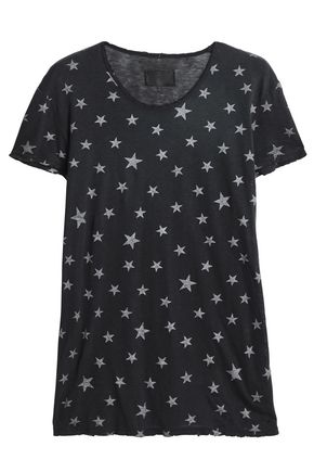 RTA Printed cotton and cashmere-blend jersey T-shirt