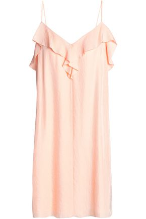 RAG & BONE Ruffle-trimmed twill mini dress