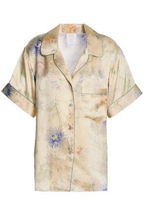 ANNA SUI Floral-print silk-satin shirt