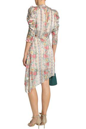 bd52641030 ... ANNA SUI Asymmetric printed satin dress
