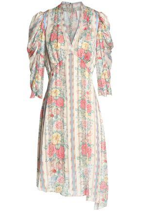 1fec9bebb6 Anna Sui Woman Asymmetric Printed Satin Dress Ivory