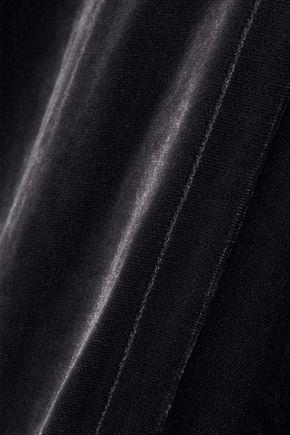 RICK OWENS Cyclops draped velvet playsuit