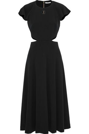 DEREK LAM 10 CROSBY Cutout crepe midi dress