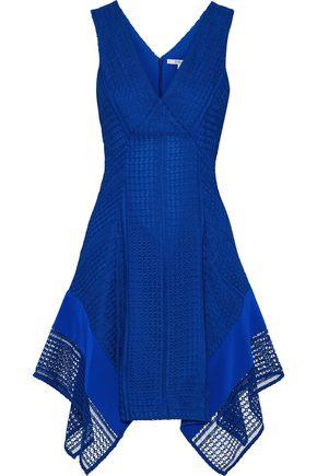 DEREK LAM 10 CROSBY Silk-paneled guipure lace dress