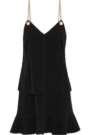 DEREK LAM 10 CROSBY Layered crepe mini slip dress