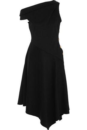DEREK LAM 10 CROSBY One-shoulder bow-detailed crepe midi dress