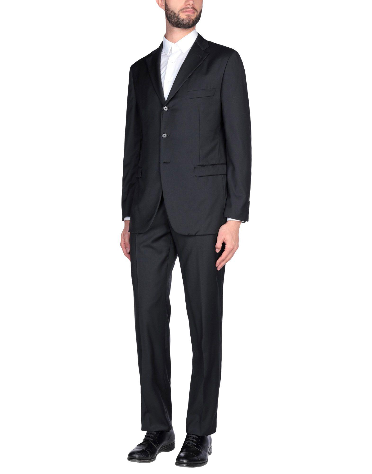 《送料無料》BURBERRY メンズ スーツ ブラック 54 スーパー130 ウール 100%