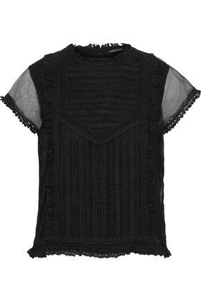 LOVE SAM Sada paneled lace and tulle top