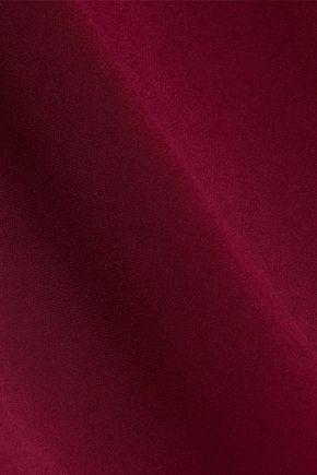 RACHEL ZOE Baxter cold-shoulder ruffled crepe maxi dress