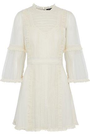LOVE SAM Sada paneled lace and tulle mini dress
