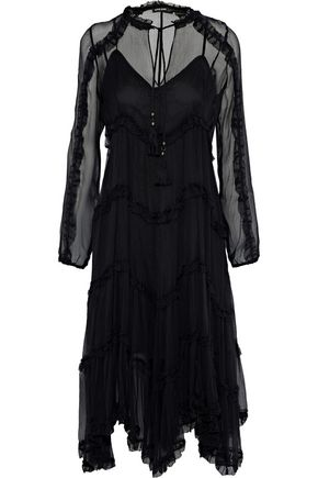 LOVE SAM Kasia tiered georgette midi dress