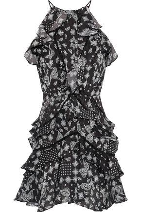 MARISSA WEBB Andrea ruffled printed georgette mini dress