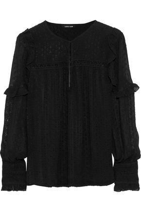 LOVE SAM Joy lace-trimmed fil coupé georgette blouse