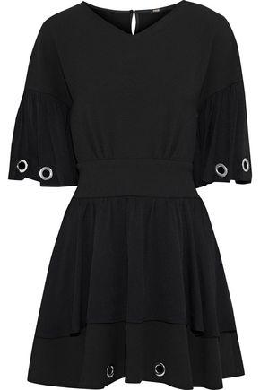MAJE Eyelet-embellished crepe mini dress