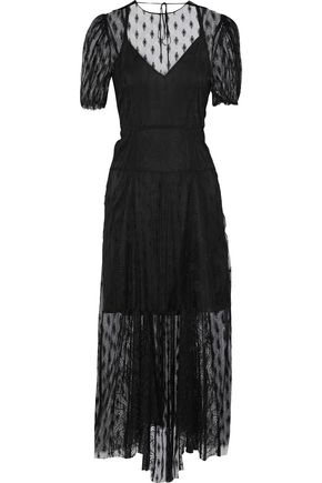 MAJE Ramsey open-back lace midi dress