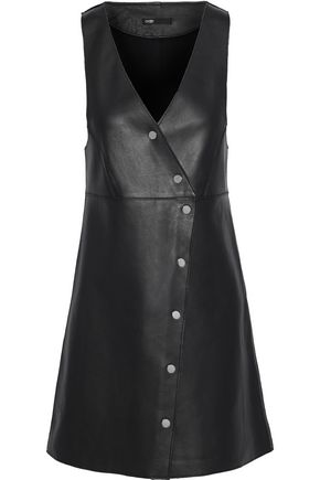 MAJE Rajani leather mini dress