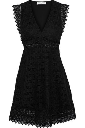 SANDRO Lindsey pinked crocheted mini dress