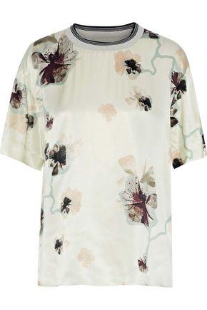 BY MALENE BIRGER Opheelia floral-print satin T-shirt