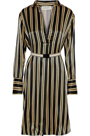 BY MALENE BIRGER Belted striped satin dress