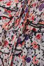 ANNA SUI Ruffled floral-print georgette midi dress