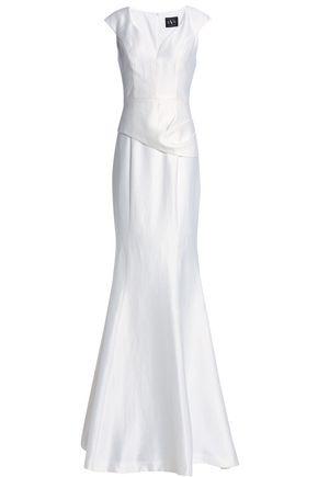 BLACK HALO Satin-crepe gown